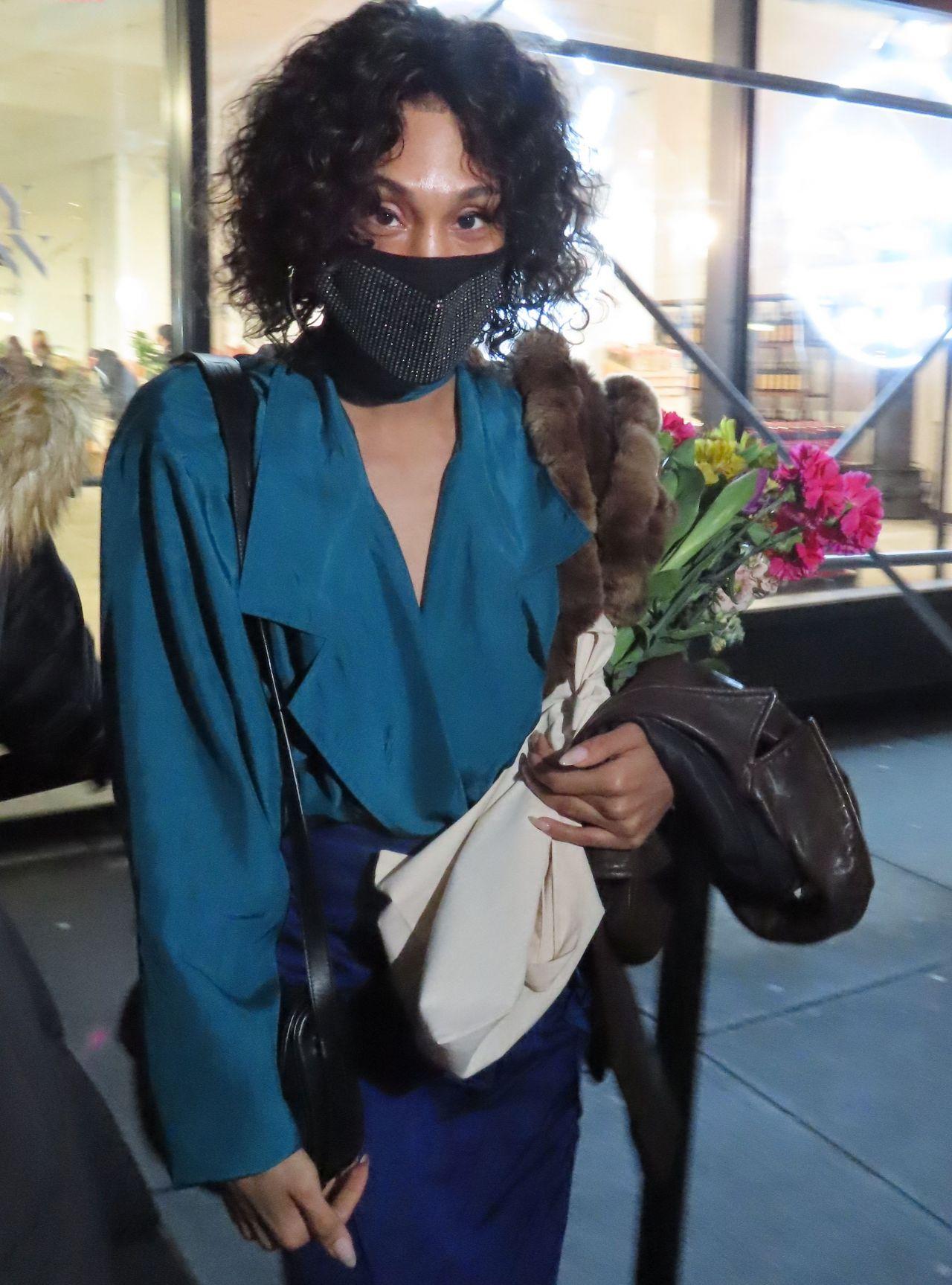 MJ Rodriguez at Jason Wu Fashion Show in New York 02/14 ...