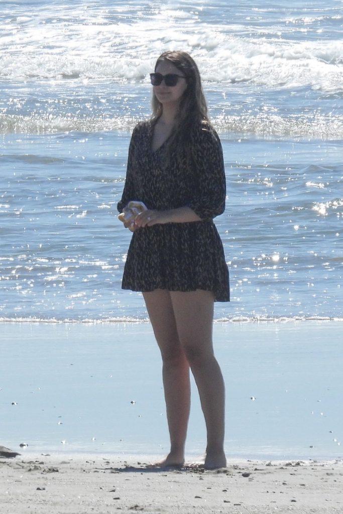 April Love Geary – Beach in Malibu 02/22/2021